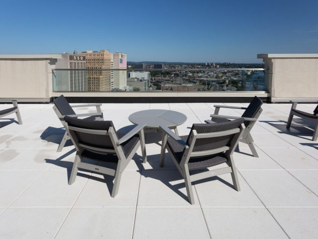 50 rector park brand new waterfront rentals newark nj rooftop lounge 1